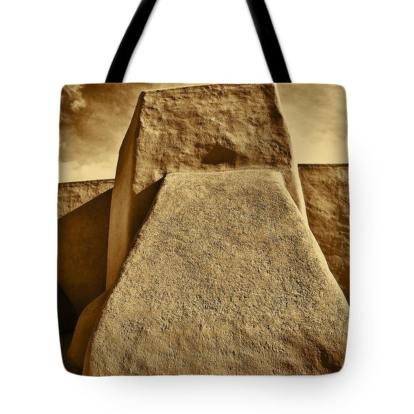 Tote Bag featuring the photograph San Francisco De Asis Mission Church Taos by John Hansen