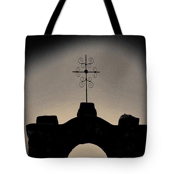 Tote Bag featuring the photograph San Francisco De La Espada Mission by Gerlinde Keating - Galleria GK Keating Associates Inc