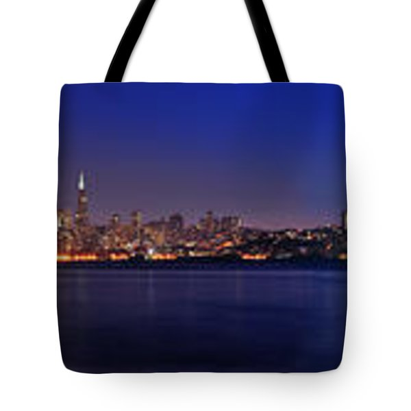 San Francisco Dusk Panorama Tote Bag