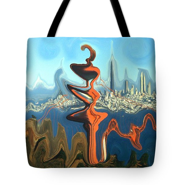 San Francisco Earthquake - Modern Art Tote Bag by Art America Gallery Peter Potter