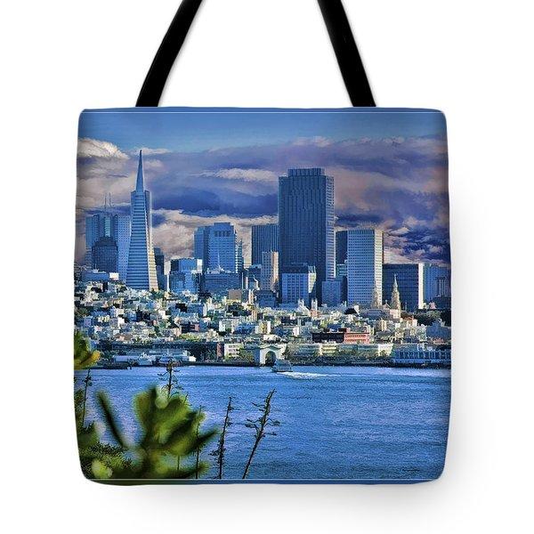 San Francisco From Alcatraz Tote Bag