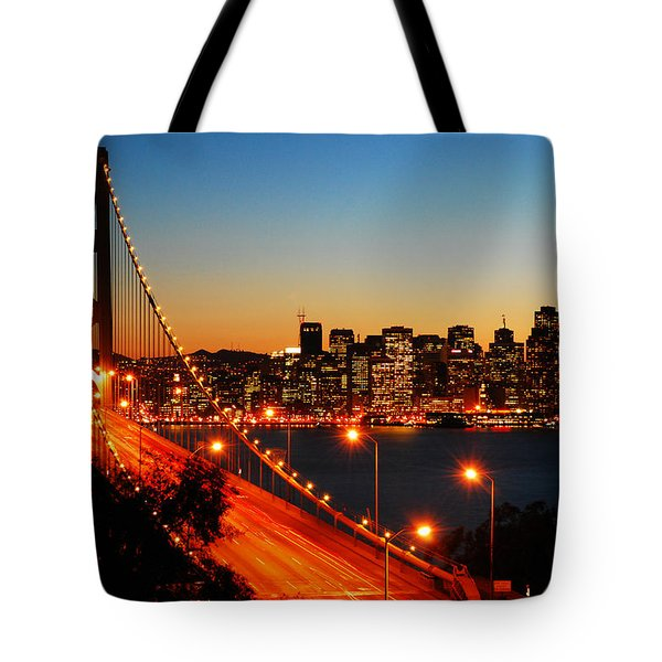The City By The Bay Tote Bag by James Kirkikis