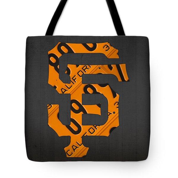 San Francisco Giants Baseball Vintage Logo License Plate Art Tote Bag