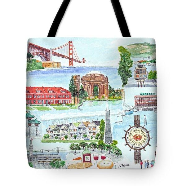 San Francisco Highlights Montage Tote Bag