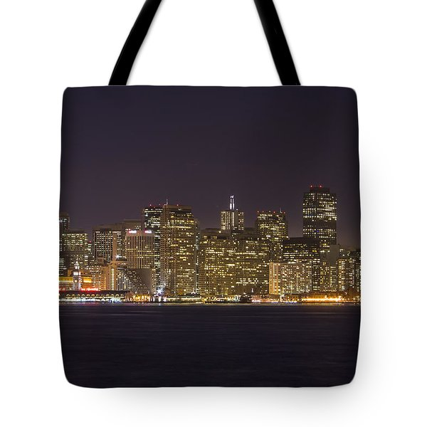San Francisco Nighttime Skyline 1 Tote Bag