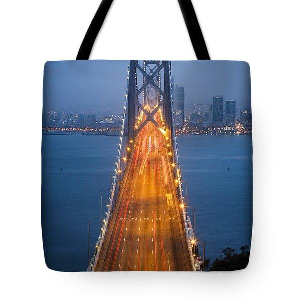 San Francisco - Oakland Bay Bridge Tote Bag