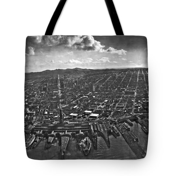 San Francisco Panorama Tote Bag by Underwood Archives