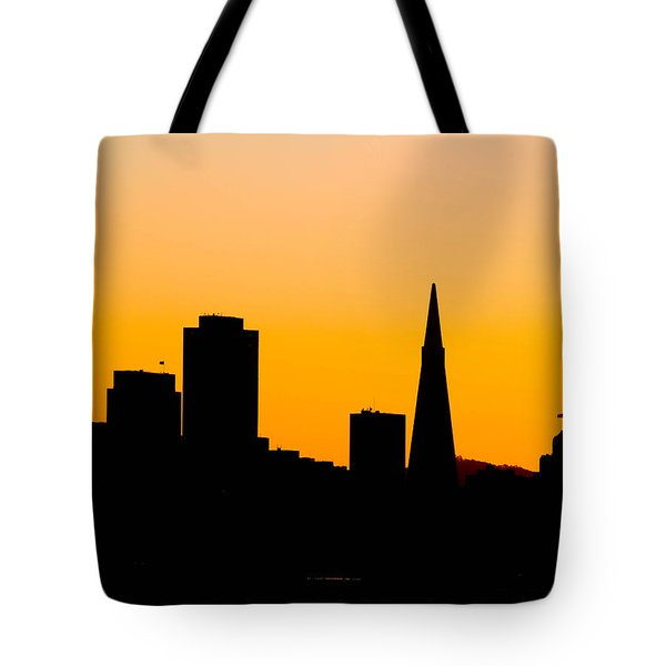 San Francisco Silhouette Tote Bag by Bill Gallagher