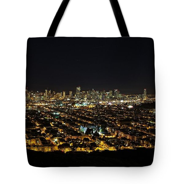 San Francisco Skyline Tote Bag by Dave Files