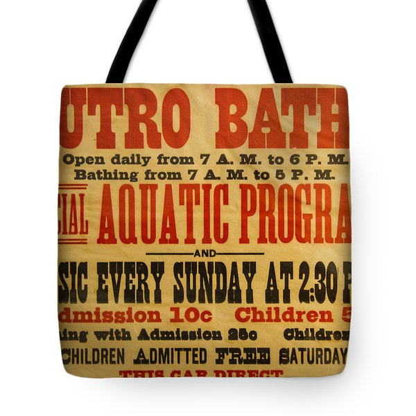 San Francisco Sutro Baths Tote Bag