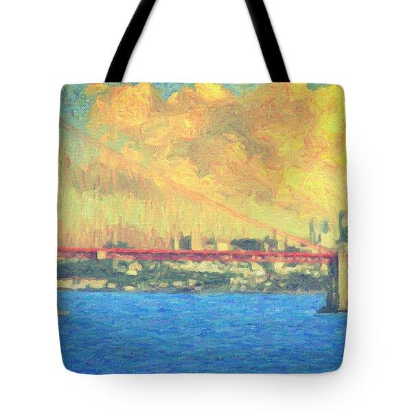 San Francisco Tote Bag by Taylan Apukovska