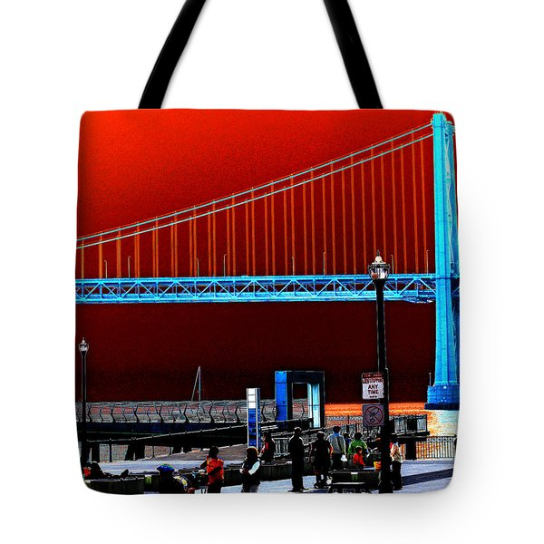 Tote Bag featuring the photograph San Francisco Unique Processing by Maggy Marsh
