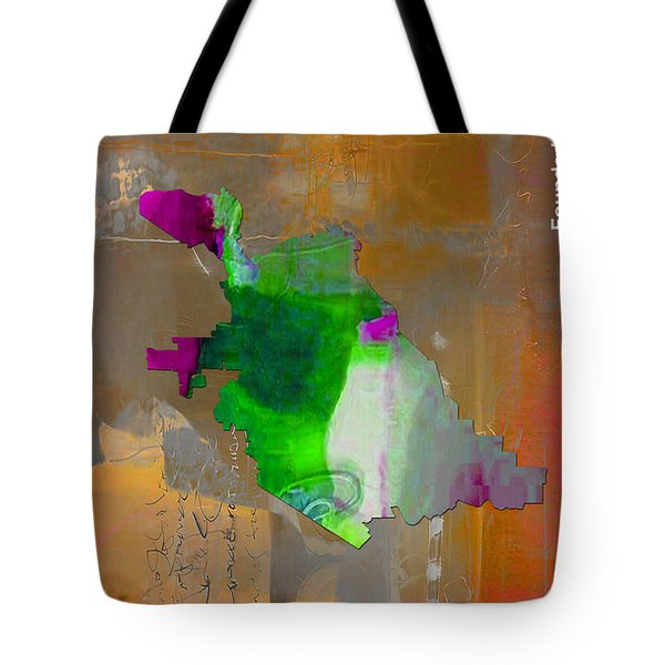 San Jose Map Watercolor Tote Bag by Marvin Blaine