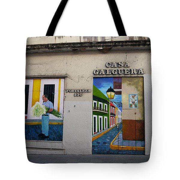 San Juan - Casa Galguera Mural Tote Bag