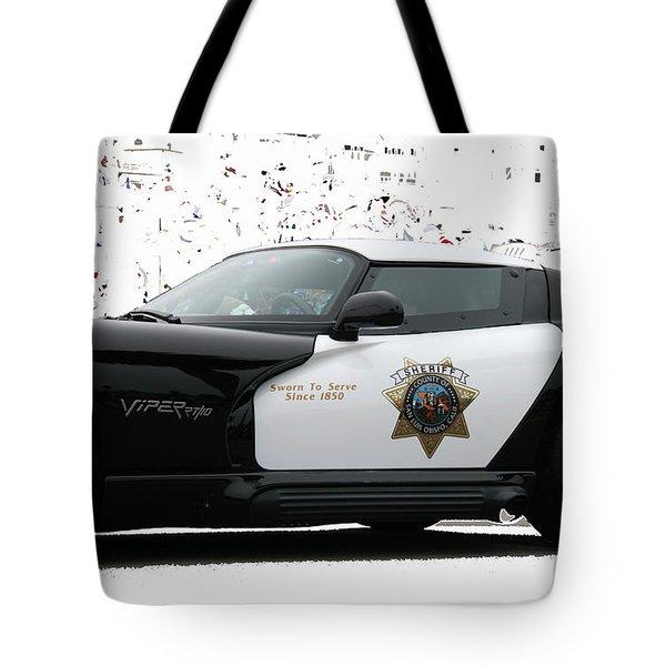 San Luis Obispo County Sheriff Viper Patrol Car Tote Bag