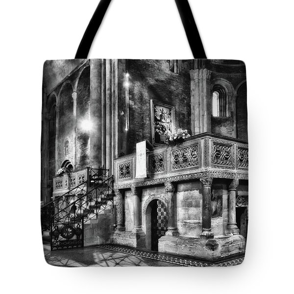 San Michele Toward The Altar Tote Bag