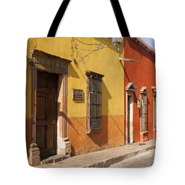 San Miguel Street Mexico Tote Bag