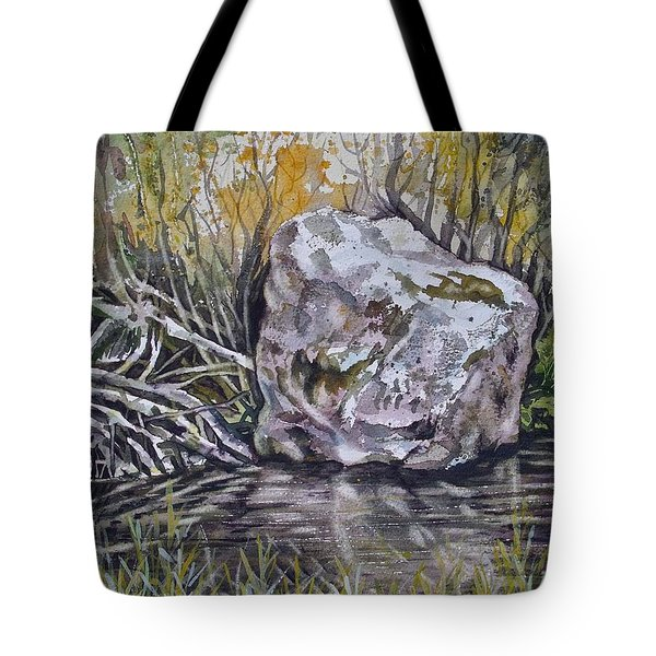 San Poil River Rock Tote Bag