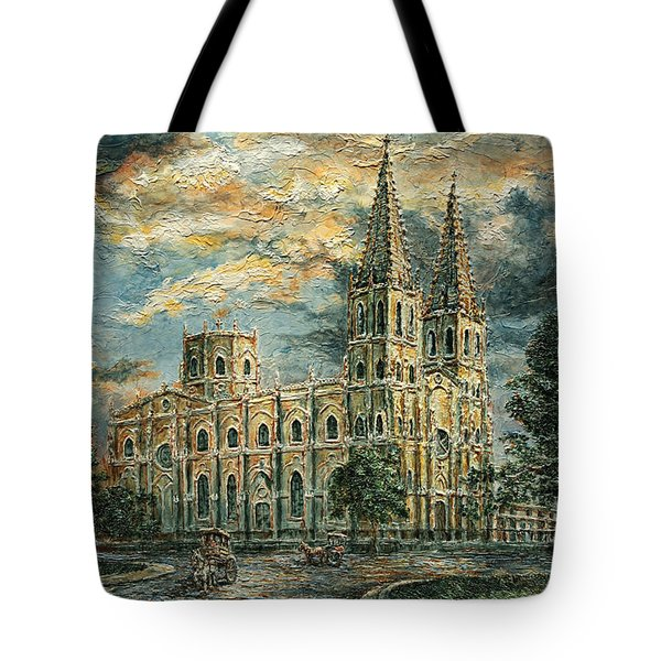 San Sebastian Church 1800s Tote Bag by Joey Agbayani