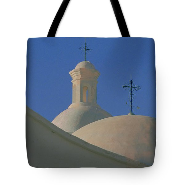 Tote Bag featuring the photograph San Xavier Del Bac by Susan Rovira