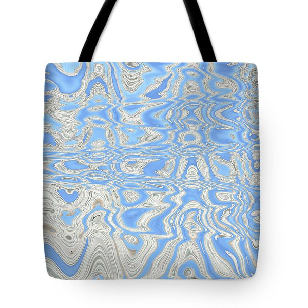 Sand And Sea Abstract Tote Bag by Carol Groenen