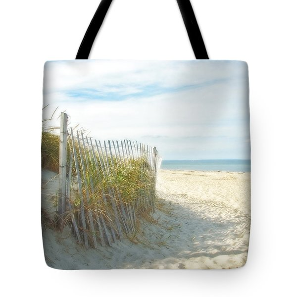 Tote Bag featuring the photograph Sand Beach Ocean And Dunes by Brooke T Ryan