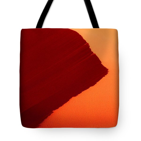 Tote Bag featuring the photograph Sand Dune Curves Coral Pink Sand Dunes Arizona by Dave Welling