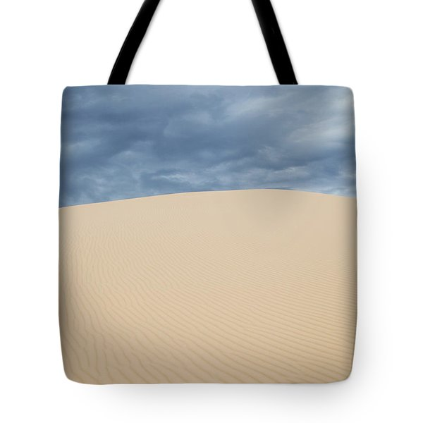 Sand Dunes And Dark Clouds Tote Bag
