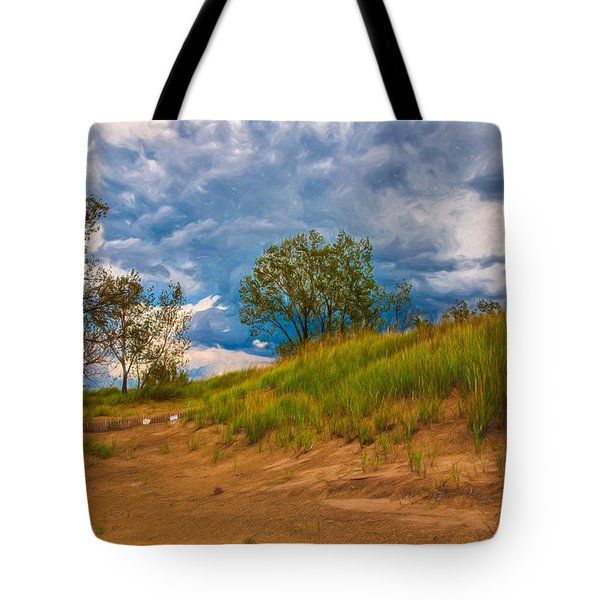 Sand Dunes At Indian Dunes National Lakeshore Tote Bag