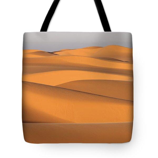Sand Dunes In The Sahara Desert Tote Bag by Robert Preston