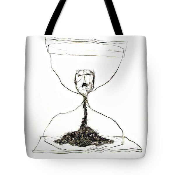 Sand Glass Tote Bag by Michal Boubin
