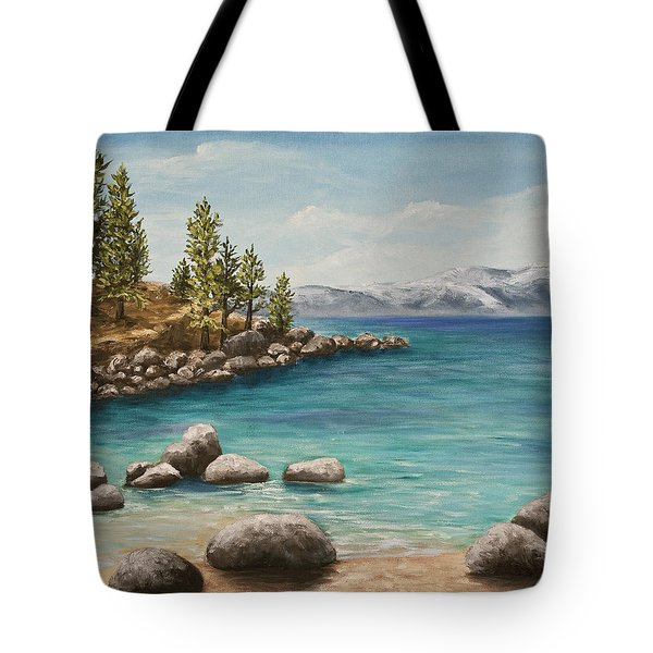 Sand Harbor Lake Tahoe Tote Bag