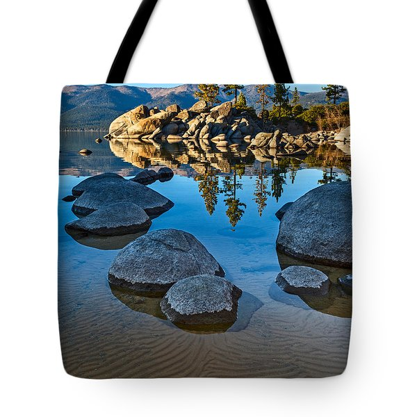 Sand Harbor Ripples Tote Bag