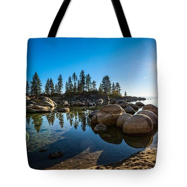 Sand Harbor Star Tote Bag