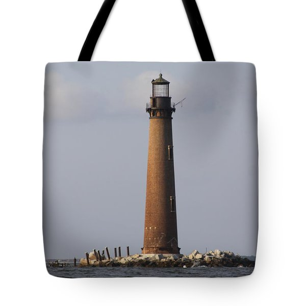 Sand Island Lighthouse - Once 40 Acres Tote Bag