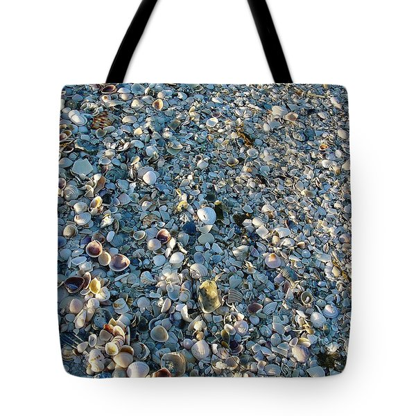 Tote Bag featuring the photograph Sand Key Shells by David Nicholls