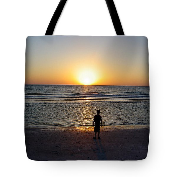 Tote Bag featuring the photograph Sand Key Sunset by David Nicholls