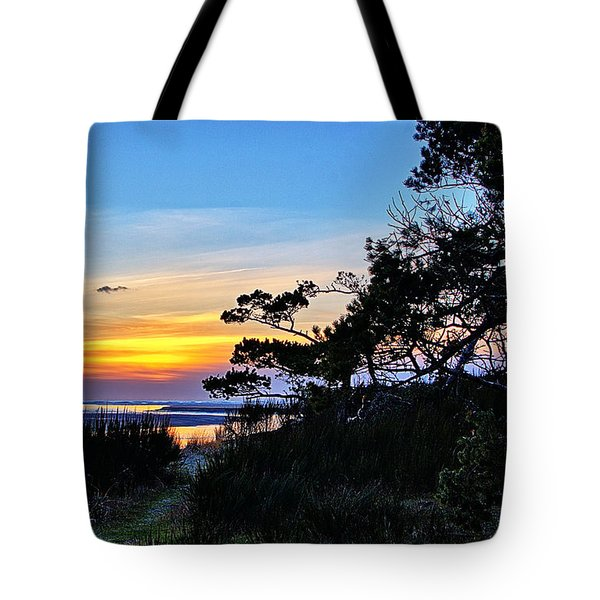 Sand Lake Sunset Tote Bag