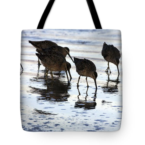 Sand Pipers Reflected Tote Bag