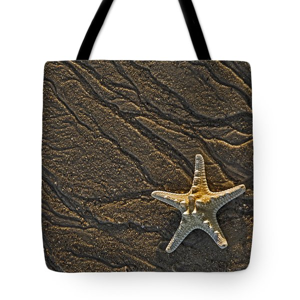 Sand Prints And Starfish  Tote Bag by Susan Candelario