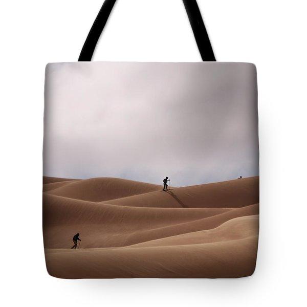 Sand Skiing Tote Bag