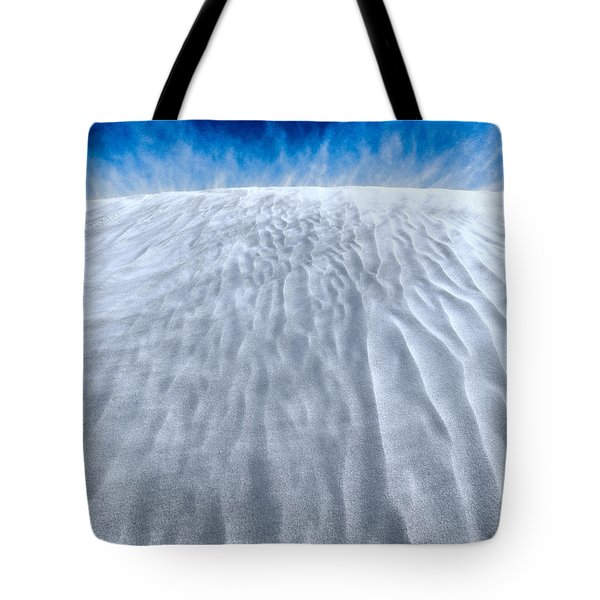 Sand Storm On The Horizon Tote Bag