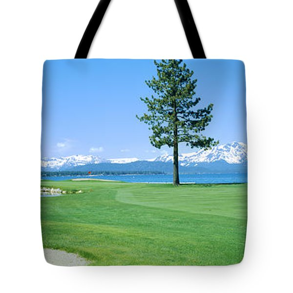 Sand Trap In A Golf Course, Edgewood Tote Bag