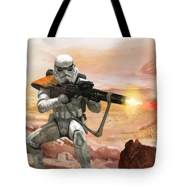 Sand Trooper - Star Wars The Card Game Tote Bag by Ryan Barger