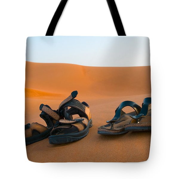 Sandals On Sand Tote Bag
