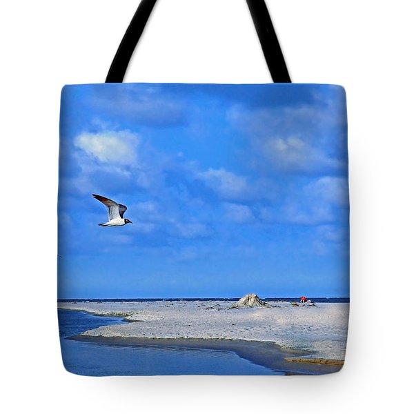 Sandbar Bliss Tote Bag by Marie Hicks