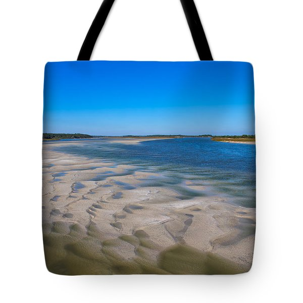 Sandbars On The Fort George River Tote Bag by John M Bailey