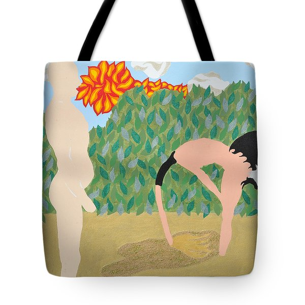 Tote Bag featuring the painting Sanded by Erika Chamberlin