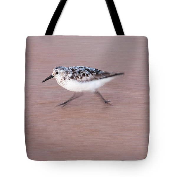 Sanderling On The Run Tote Bag