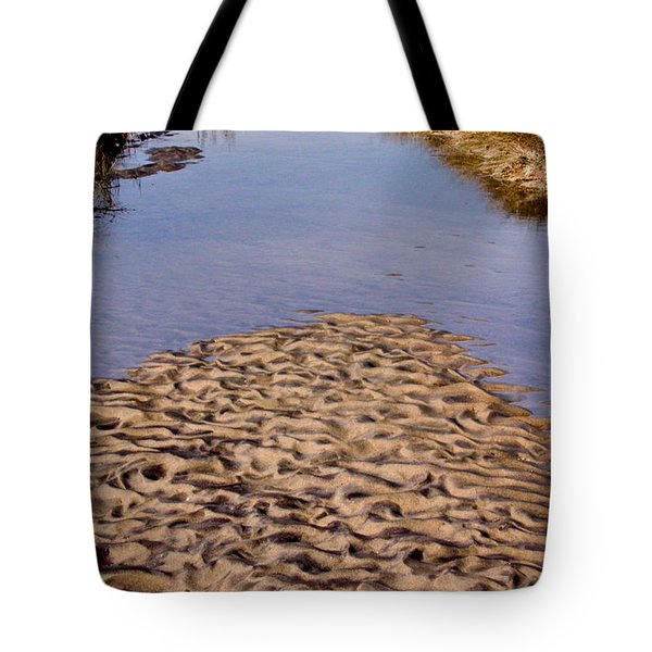 Tote Bag featuring the photograph Sandform At Sand Hook by Gary Slawsky